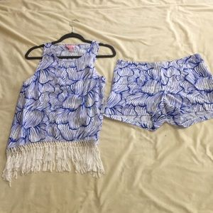 Lily Pulitzer top and short set